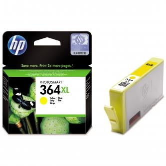 HP originální ink CB325EE, HP 364XL, yellow, 750str.